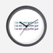 Another goat, funny Wall Clock