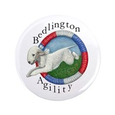 "Agility Bedlington 3.5"" Button"