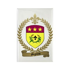 MIGNEAU Family Crest Rectangle Magnet (100 pack)