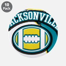 "Jacksonville Football 3.5"" Button (10 pack)"
