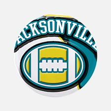 """Jacksonville Football 3.5"""" Button"""