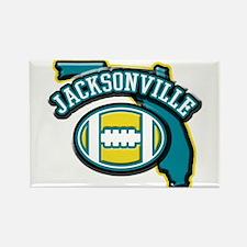 Jacksonville Football Rectangle Magnet (100 pack)