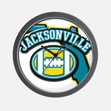 Jacksonville Football Wall Clock