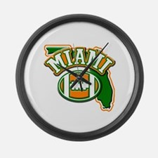 Miami Football Large Wall Clock