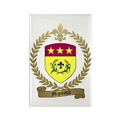 MIGNEAULT Family Crest Rectangle Magnet (100 pack)