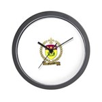MIGNEAULT Family Crest Wall Clock