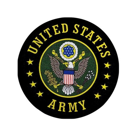 """US Army 3.5"""" Button (100 pack)"""