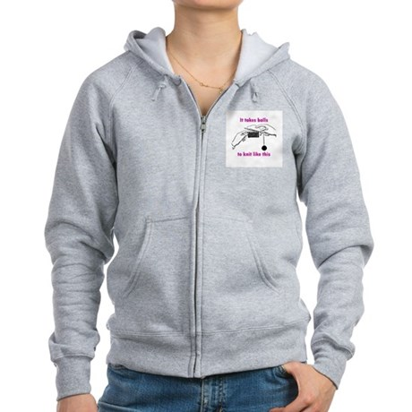 Knit - It Takes Balls Women's Zip Hoodie