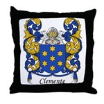 Clemente Family Crest Throw Pillow