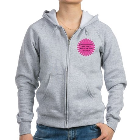 Just Let Me Finish This Row - Knit Women's Zip Hoo