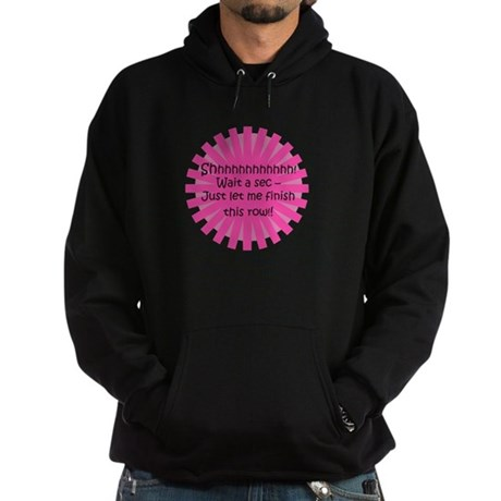 Just Let Me Finish This Row - Knit Hoodie (dark)