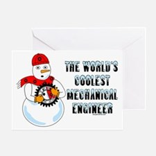 Coolest Mechanical Engineer Greeting Card