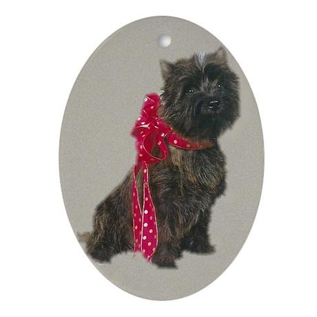 cairn terrier christmas ornament