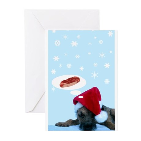 Doggie Christmas Daydreams C Greeting Cards (Pk of