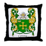 Corona Family Crest Throw Pillow