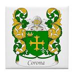 Corona Family Crest Tile Coaster