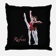 Rubies Throw Pillow