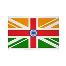 Anglo Indian Flag Rectangle Magnet