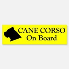Cane Corso On Board Bumper Bumper Bumper Sticker