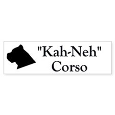 "Cane Corso ""Kah Neh"" Bumper Bumper Sticker"