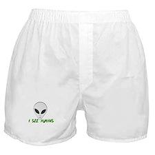 i see humans Boxer Shorts