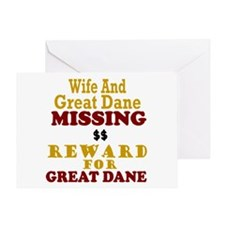 Wife & Great Dane Missing Greeting Card