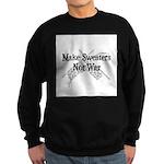 Make Sweaters Not War - Knit Sweatshirt (dark)