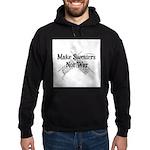 Make Sweaters Not War - Knit Hoodie (dark)