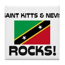 Saint Kitts & Nevis Rocks! Tile Coaster
