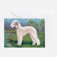 Bedlington (Standing) Greeting Card