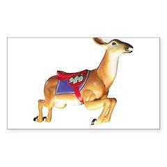 carousel deer Rectangle Decal
