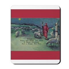 1910 Shepherds and Star Mousepad