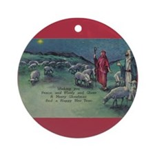 1910 Shepherds and Star Ornament (Round)