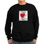 Knitting and Chocolate Sweatshirt (dark)