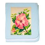 Pink Hibiscus Beautiful Painting Print baby blanke
