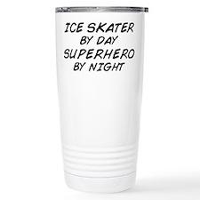Ice Skater Superhero by Night Travel Mug