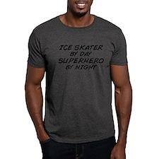 Ice Skater Superhero by Night T-Shirt