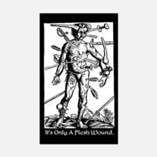 It's Only A Flesh Wound Rectangle Sticker 10 pk)