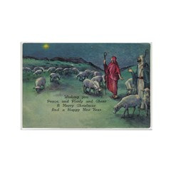 1910 Shepherds and Star Rectangle Magnet