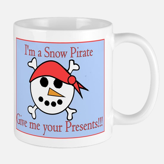 Snow Pirate Blue Background Mug