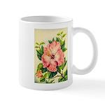 Pink Hibiscus Beautiful Painting Print Mugs