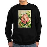Pink Hibiscus Beautiful Painting Print Sweatshirt