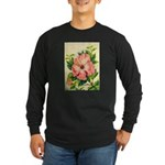 Pink Hibiscus Beautiful Painting Print Long Sleeve