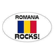 Romania Rocks! Oval Decal