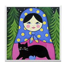 Matryoshka Babushka Girl Doll Folk ART Tile