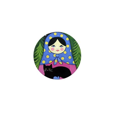 Matryoshka Babushka Girl Doll Folk ART Mini Pin