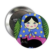 Matryoshka Babushka Girl Doll Folk ART Pin