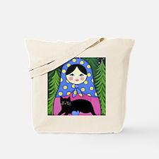 Matryoshka Babushka Girl Doll Folk ART Tote Bag