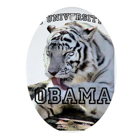 The University of Obama Zoolo Oval Ornament