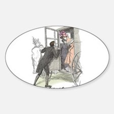 Pride & Prejudice Ch 38a Oval Decal